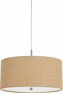 Cal FX-3627-1P Addison Burlap Drum Pendant Light