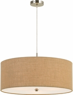 Cal FX-3627-3P Addison Burlap Drum Pendant Lighting Fixture