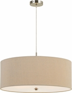 Cal FX-3628-3P Addison Linen Drum Hanging Pendant Lighting