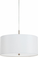 Cal FX-3629-1P Addison White Drum Pendant Lamp