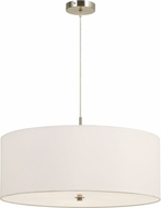 Cal FX-3629-3P Addison White Drum Pendant Hanging Light