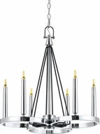 Cal FX-3642-6 Rimini Modern Chrome LED Mini Ceiling Chandelier