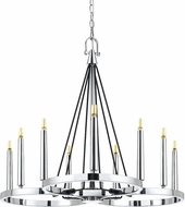 Cal FX-3642-9 Rimini Contemporary Chrome LED Hanging Chandelier
