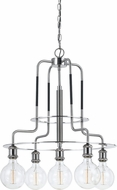 Cal FX-3652-5 Modern Brushed Steel Mini Chandelier Light