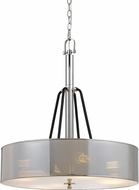 Cal FX-3655-4A George Modern Chrome Drum Hanging Light Fixture