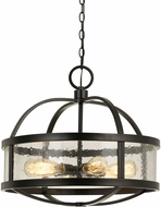 Cal FX-3666-6 Granada Contemporary Iron Drum Hanging Light