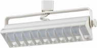 Cal HT-633S-WH Contemporary White LED Track Lighting Flush Ceiling Light Fixture
