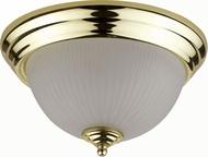 Cal LA-180S-PB Polished Brass Fluorescent Flush Lighting