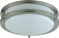 Cal LA-182S Brushed Steel Fluorescent Home Ceiling Lighting