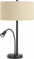 Cal LA-2698TB-1-DB Gooseneck Dark Bronze Side Table Lamp w/ LED task light