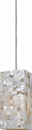 Cal UP-1029-6-BS Uni-Pack Modern Brushed Steel Seashell Mini Hanging Pendant Light
