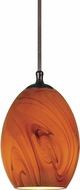 Cal UP-1036-6-RU Uni-Pack Contemporary Rust Amber Swirl Mini Ceiling Light Pendant
