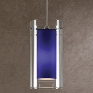 Cal UP-1052-6-BS Uni-Pack Modern Brushed Steel Blue Halogen Mini Pendant Lamp