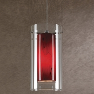 Cal UP-1054-6-BS Uni-Pack Modern Brushed Steel Amber Swirl Halogen Mini Hanging Light
