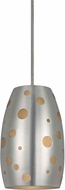 Cal UP-1102-6-BS Uni-Pack Contemporary Brushed Steel Mini Hanging Lamp