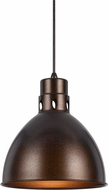 Cal UP-1109-6-RU Webster Contemporary Rust Mini Pendant Light Fixture