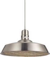 Cal UP-1112-6-BS Danberry Contemporary Brushed Steel Pendant Hanging Light