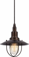 Cal UP-1113-6-RU Allentown Nautical Rust Mini Hanging Pendant Light