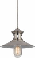 Cal UP-1115-6-BS Binghamton Nautical Brushed Steel Drop Ceiling Lighting