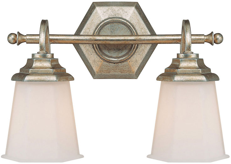 Capital lighting 1067wg 101 fifth avenue winter gold 2 for Gold bathroom wall lights
