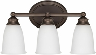 Capital Lighting 1083BB-132 Capital Vanities Burnished Bronze 3-Light Bathroom Lighting Fixture
