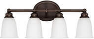 Capital Lighting 1084BB-132 Capital Vanities Burnished Bronze 4-Light Vanity Lighting