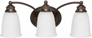 Capital Lighting 1088BB-132 Capital Vanities Burnished Bronze 3-Light Bath Light Fixture