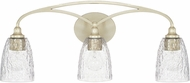 Capital Lighting 110831SF-302 Seaton Modern Soft Gold 3-Light Bathroom Light Fixture