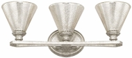 Capital Lighting 110931AS-315 Corrigan Antique Silver 3-Light Bathroom Sconce