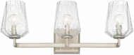 Capital Lighting 111231BS-317 Arden Contemporary Brushed Silver 3-Light Vanity Light Fixture