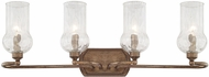 Capital Lighting 111641RT-322 Rowan Rustic 4-Light Bathroom Sconce Lighting