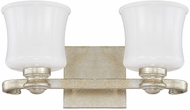 Capital Lighting 111721GS-352 Carlyle Gilded Silver 2-Light Bath Lighting Sconce