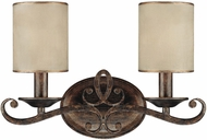 Capital Lighting 1117RT-510 Reserve Traditional Rustic 2-Light Bathroom Wall Sconce