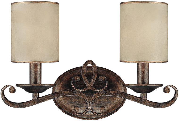 Rustic Wall Sconce For Bathroom : Capital Lighting 1117RT-510 Reserve Traditional Rustic 2-Light Bathroom Wall Sconce - CPT-1117RT-510