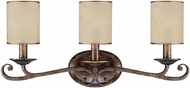 Capital Lighting 1118RT-510 Reserve Traditional Rustic 3-Light Bath Wall Sconce