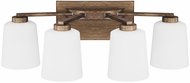 Capital Lighting 112041RT-323 Reid Rustic 4-Light Bathroom Light