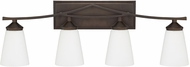 Capital Lighting 112341BB-324 Boden Contemporary Burnished Bronze 4-Light Bathroom Vanity Lighting
