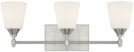 Capital Lighting 113731BN-329 Langley Brushed Nickel 3-Light Vanity Light Fixture