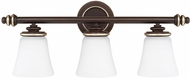 Capital Lighting 114931CZ-336 Asher Champagne Bronze 3-Light Bathroom Wall Sconce