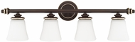 Capital Lighting 114941CZ-336 Asher Champagne Bronze 4-Light Bath Wall Sconce