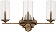 Capital Lighting 117631RT-376 Avanti Rustic 3-Light Bathroom Wall Light Fixture
