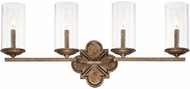 Capital Lighting 117641RT-376 Avanti Rustic 4-Light Bathroom Lighting