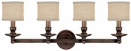 Capital Lighting 1239BB-450 Midtown Burnished Bronze 4-Light Bath Lighting Fixture