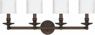 Capital Lighting 1239BB-451 Midtown Burnished Bronze 4-Light Bathroom Light Fixture