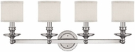 Capital Lighting 1239PN-451 Midtown Polished Nickel 4-Light Bathroom Vanity Light