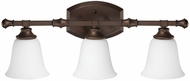Capital Lighting 1333BB-242 Belmont Burnished Bronze 3-Light Vanity Light Fixture