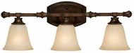 Capital Lighting 1333BB-287 Belmont Burnished Bronze 3-Light Vanity Lighting Fixture