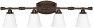 Capital Lighting 1334BB-242 Belmont Burnished Bronze 4-Light Bathroom Vanity Light Fixture