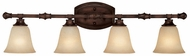 Capital Lighting 1334BB-287 Belmont Burnished Bronze 4-Light Bathroom Wall Sconce