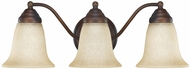 Capital Lighting 1363BB-297 Burnished Bronze 3-Light Bathroom Wall Light Fixture